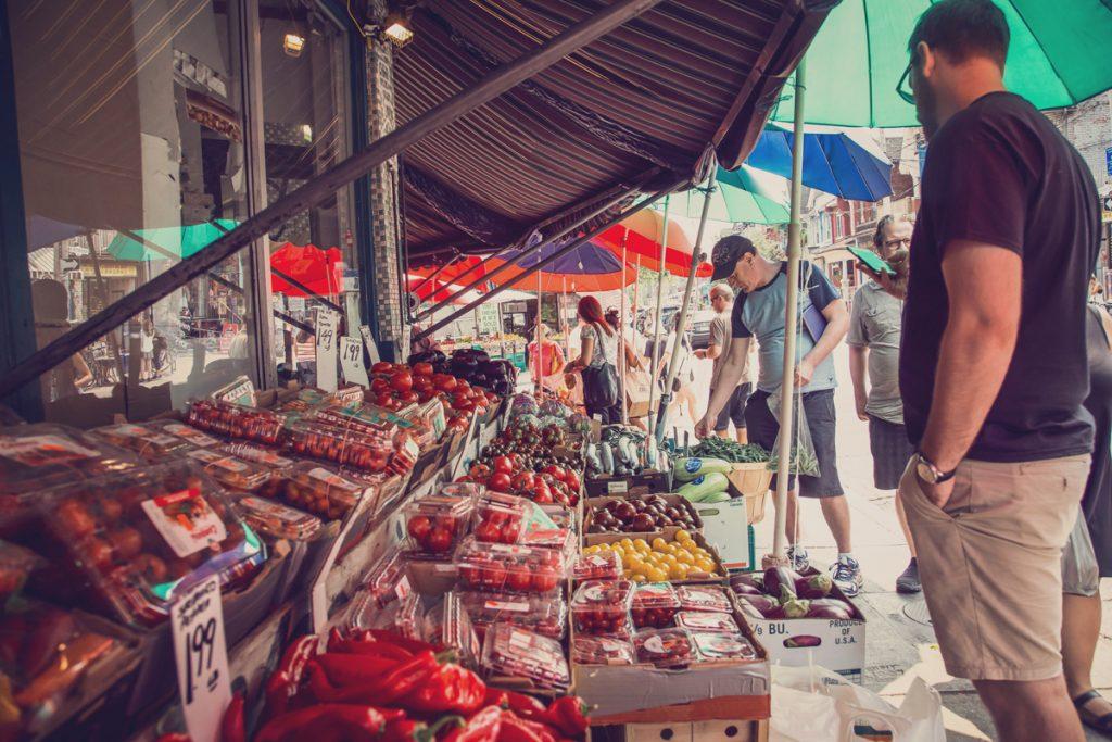 Fruit and vegetable market in Kensington, Toronto