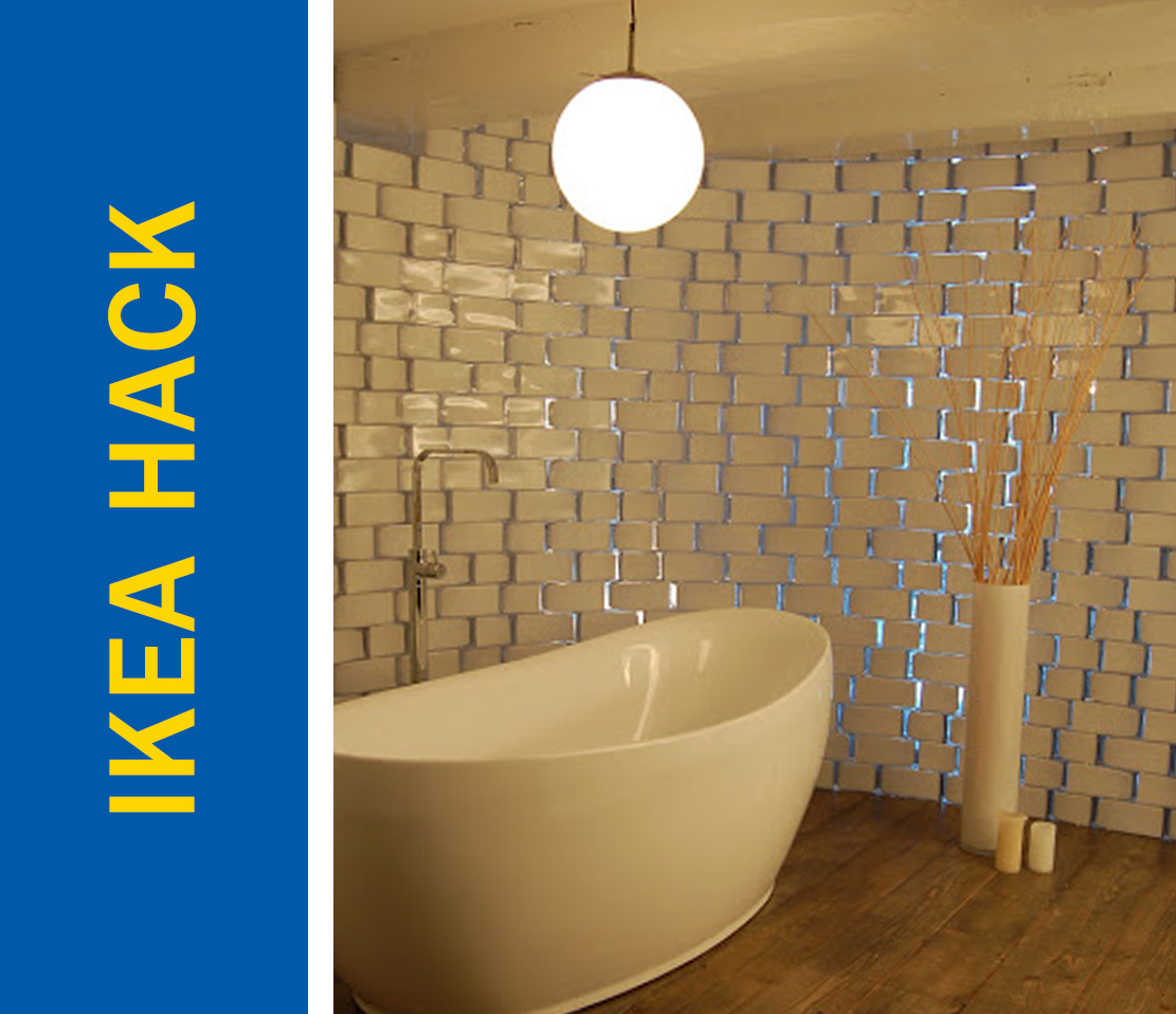 Awesome Ikea Hack of the Week: A glass block wall made from cheap vases