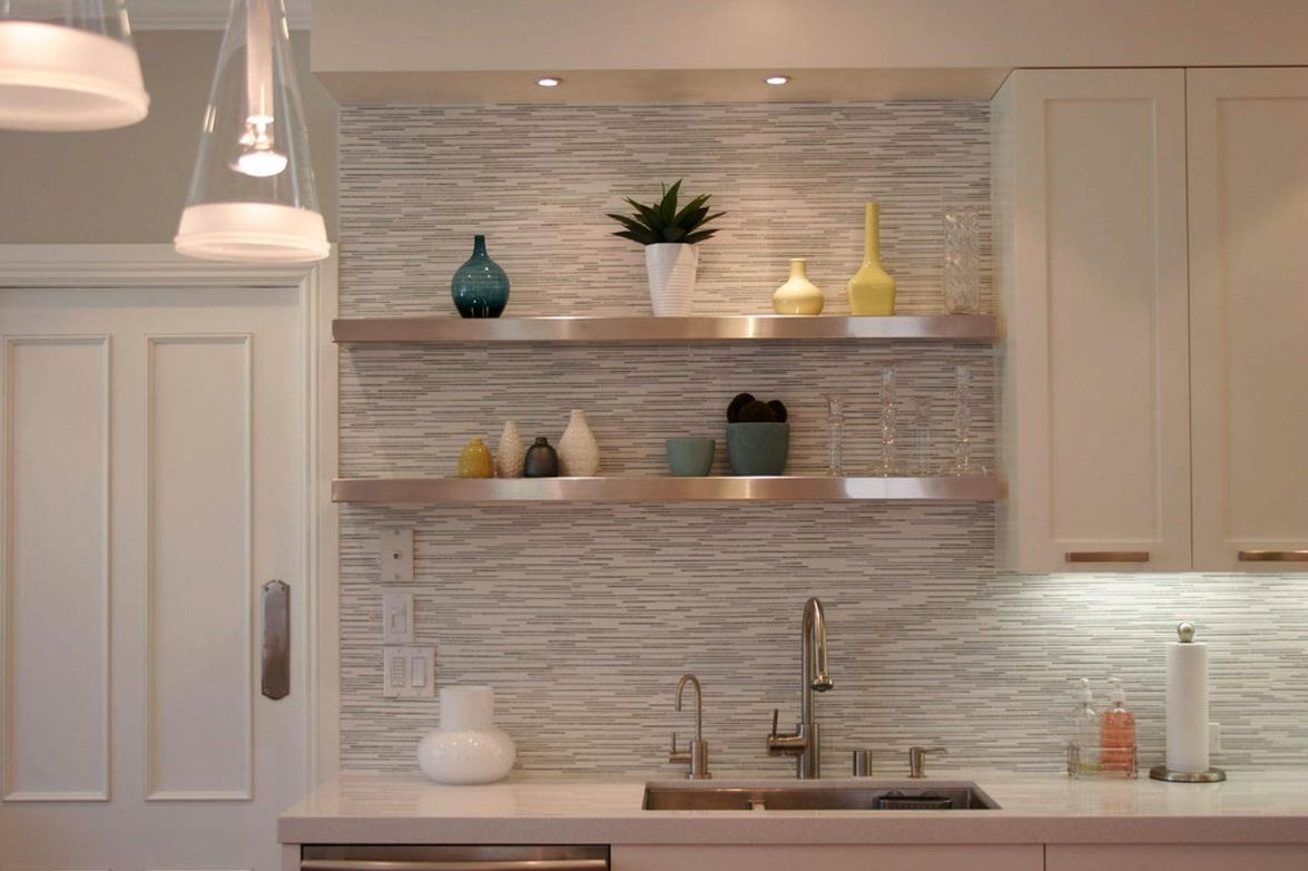 Awesome ikea hack of the week sexy metallic floating shelves for Kitchen colors with white cabinets with wall mounted art easel
