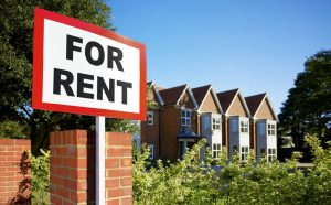 Houses with for rent sign