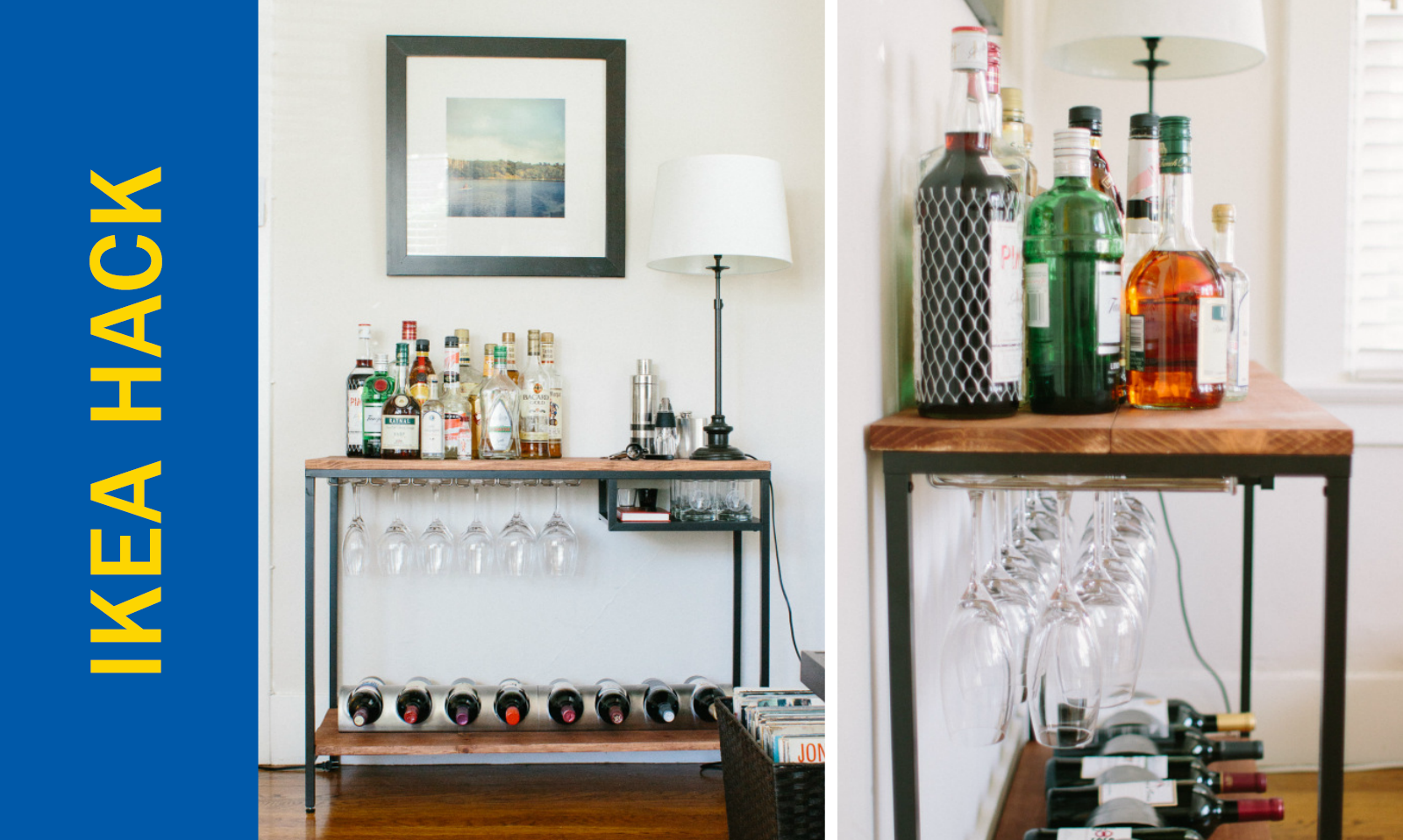 Awesome Ikea Hack Of The Week A Functional Rustic Bar Cart