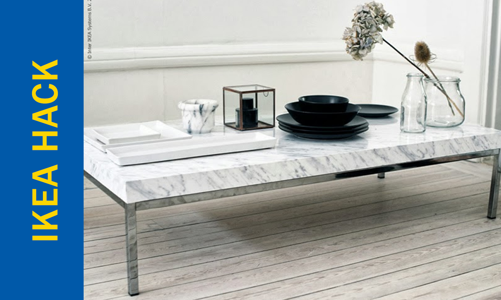 Awesome Ikea Hack Of The Week Marbled Textured Side Table Or