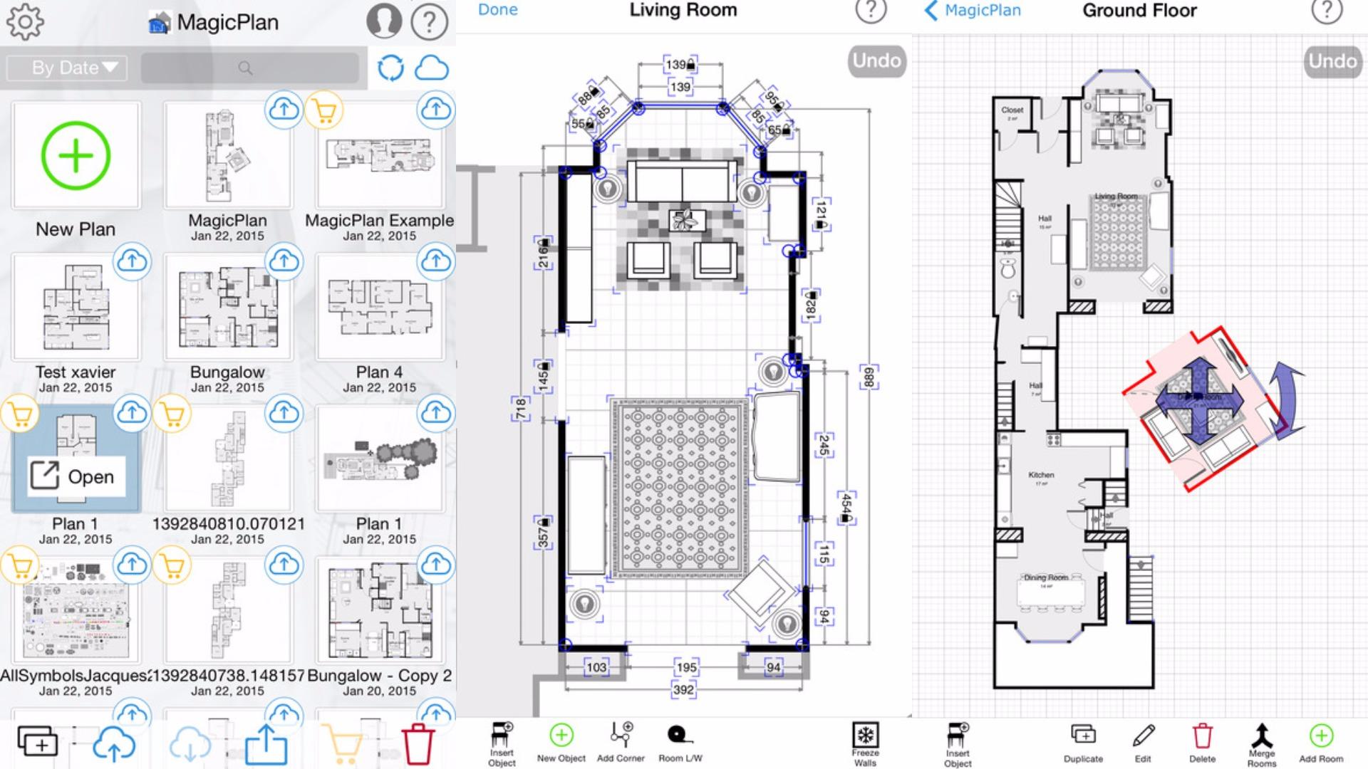 Floorplans viewed in MagicPlan