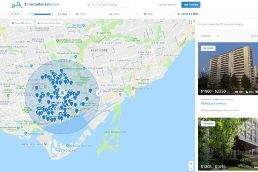New Tool for Off Campus Housing Toronto Downtown Student Rental Rentals