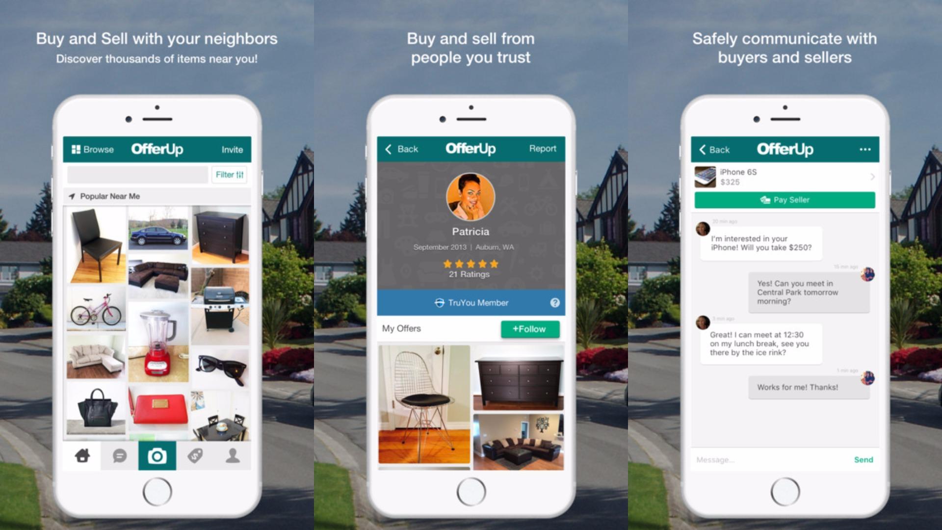 Display of app OfferUp