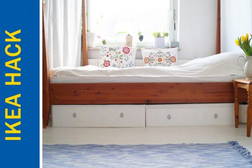 Awesome Ikea Hack of the Week: A cheap bed frame with storage