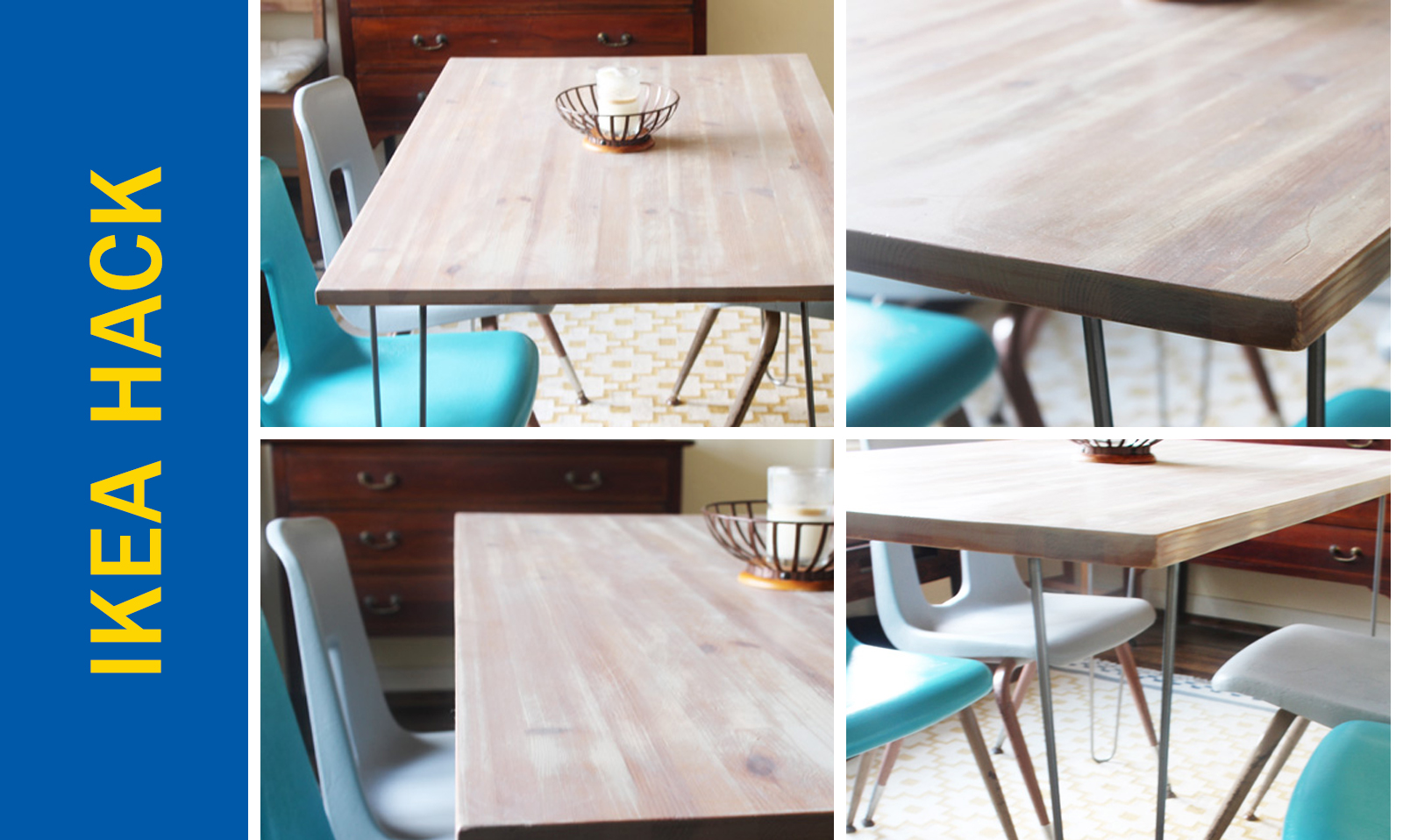 Awesome Ikea Hack of the Week: An apartment-sized dining table