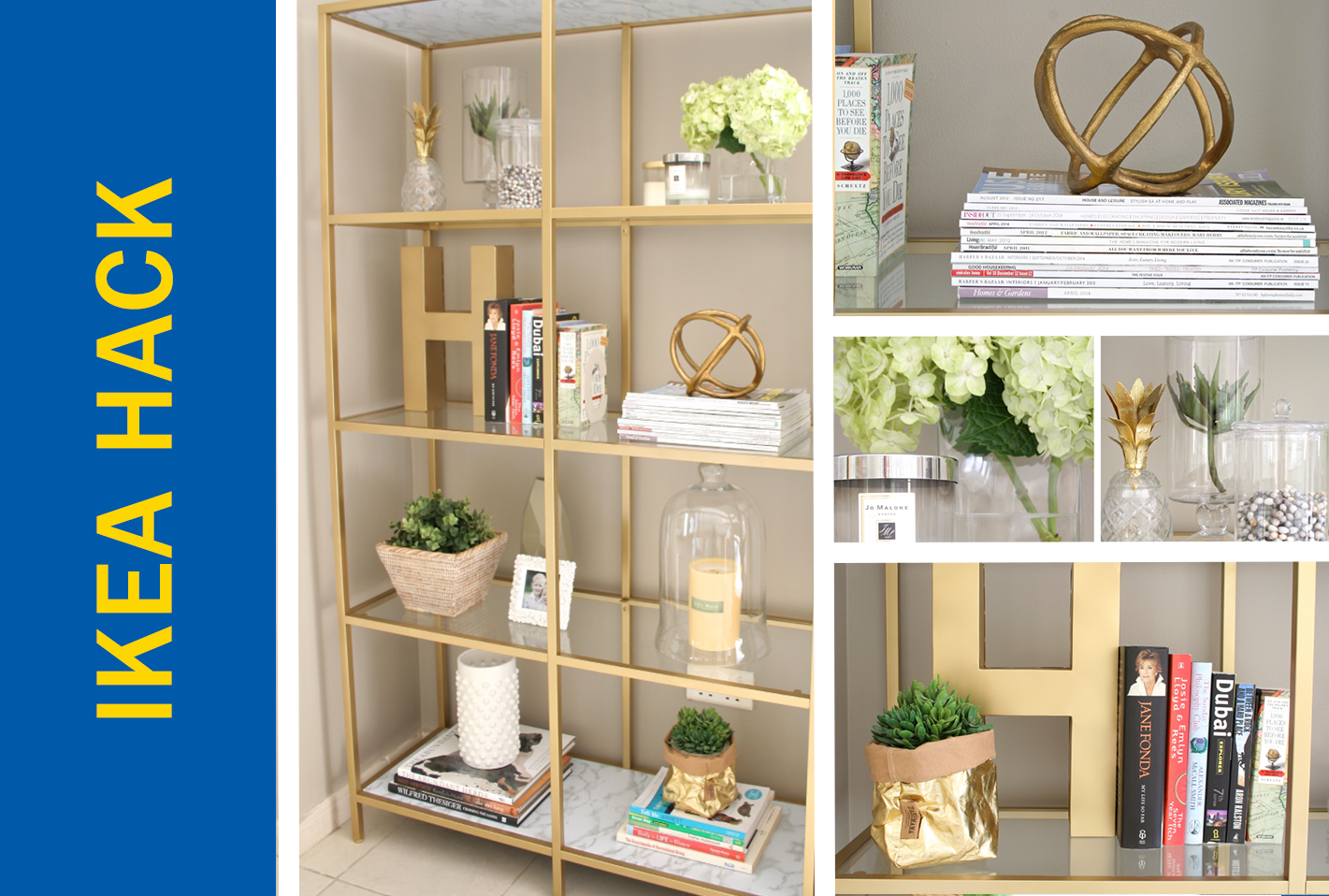 and kensington library effect with white ladder bookcase gold