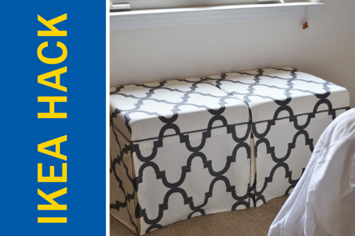 Ikea Hack of the Week: Convert a cheap side table into a chic ottoman