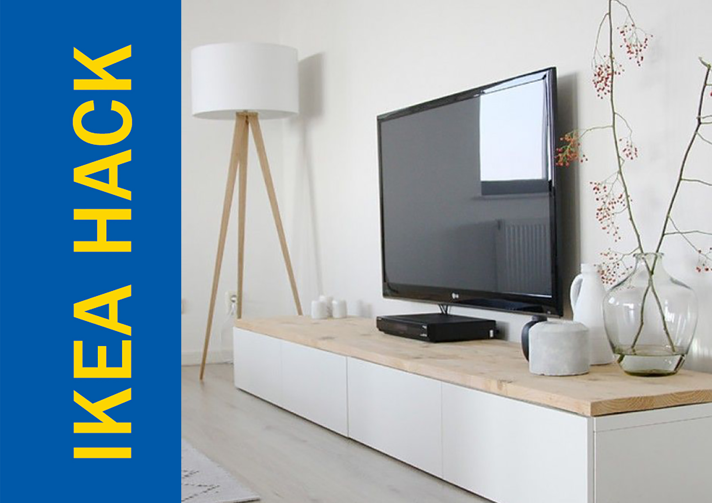 awesome ikea hack of the week a tv stand that s modern and homey. Black Bedroom Furniture Sets. Home Design Ideas