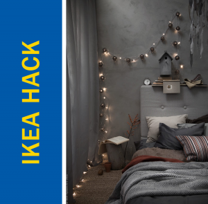 Ikea Hack of the Week: Use Christmas lights to achieve a perfectly Boho bedroom sanctuary