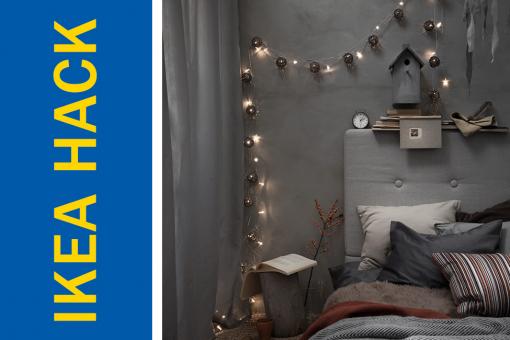 Ikea Hack of the Week: Use Christmas lights to achieve a perfectly Boho bedroom sanctuary