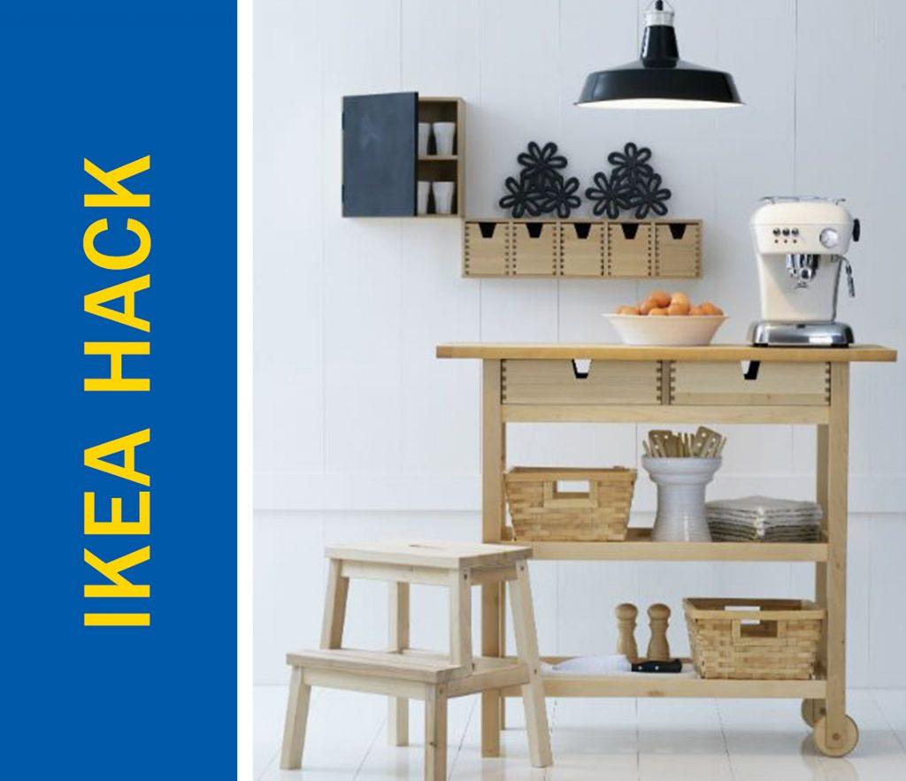 Ikea Hack Of The Week A Kitchen Island Rolling Cart Eating Bar Hybrid