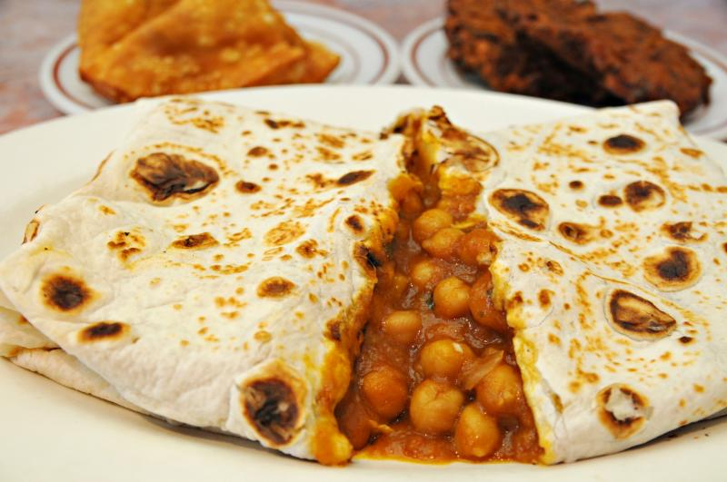 chickpea pita from mother india