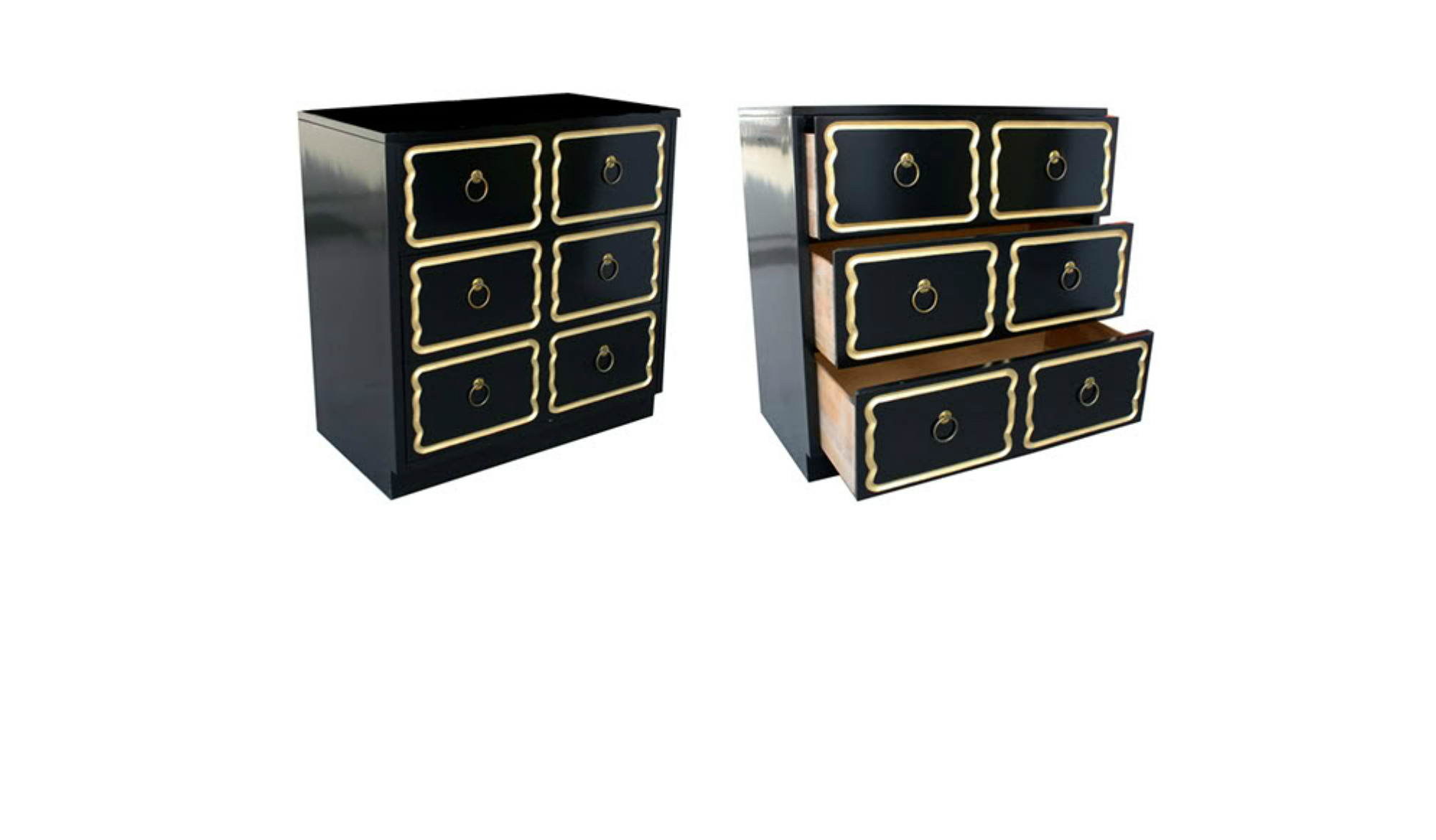 Awesome Ikea Hack Of The Week Retro Black Gold Nightstand