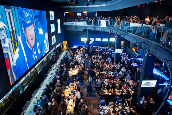 Real Sports Bar in Toronto owned by Maple Leaf Sports Entertainment. January 14, 2012. Ryan Enn Hughes for The New York Times