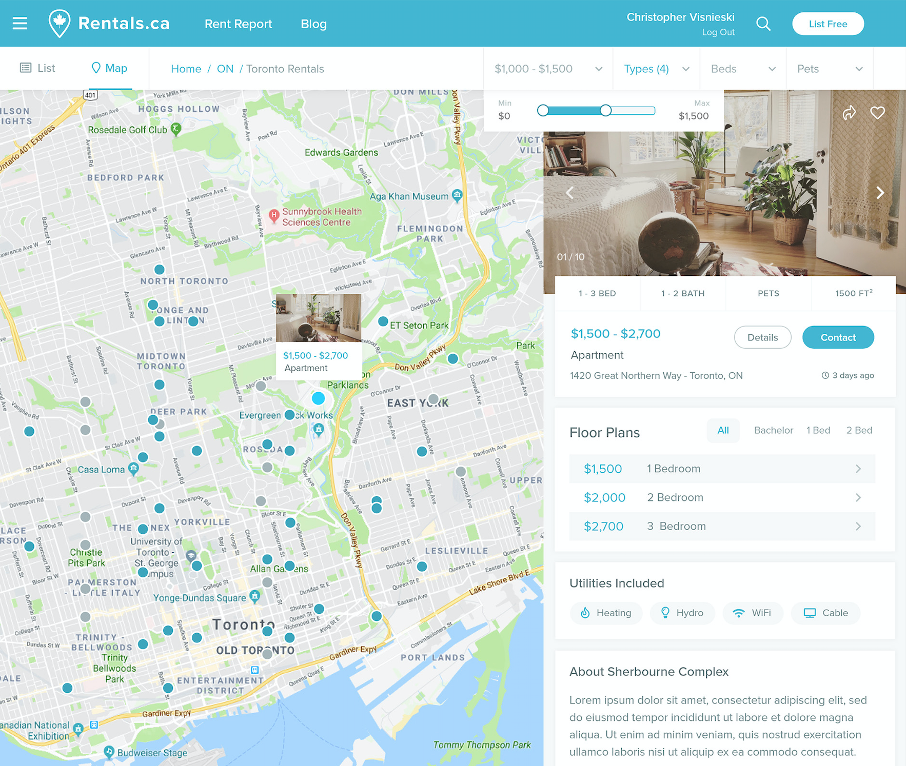Apartment Rent Map: Toronto's Best Apartment Rental Websites