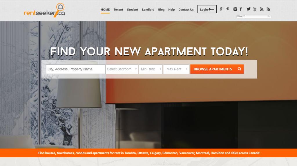 Rentseeker.ca homepage