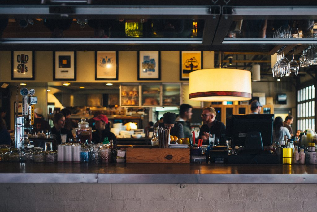 view of bar inside restaurant