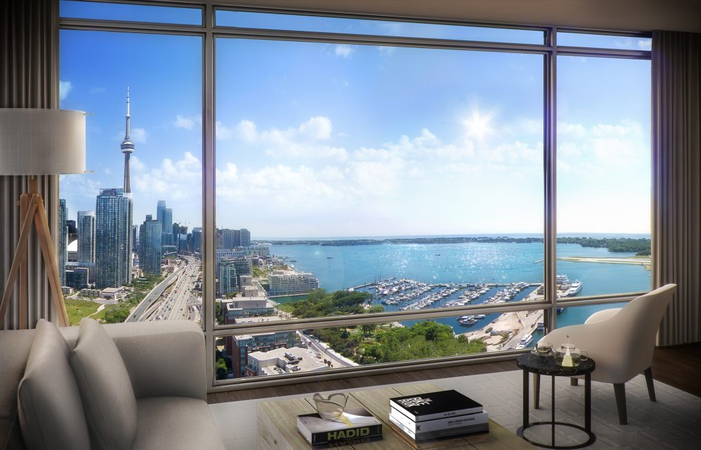 Toronto condo with view of CN tower
