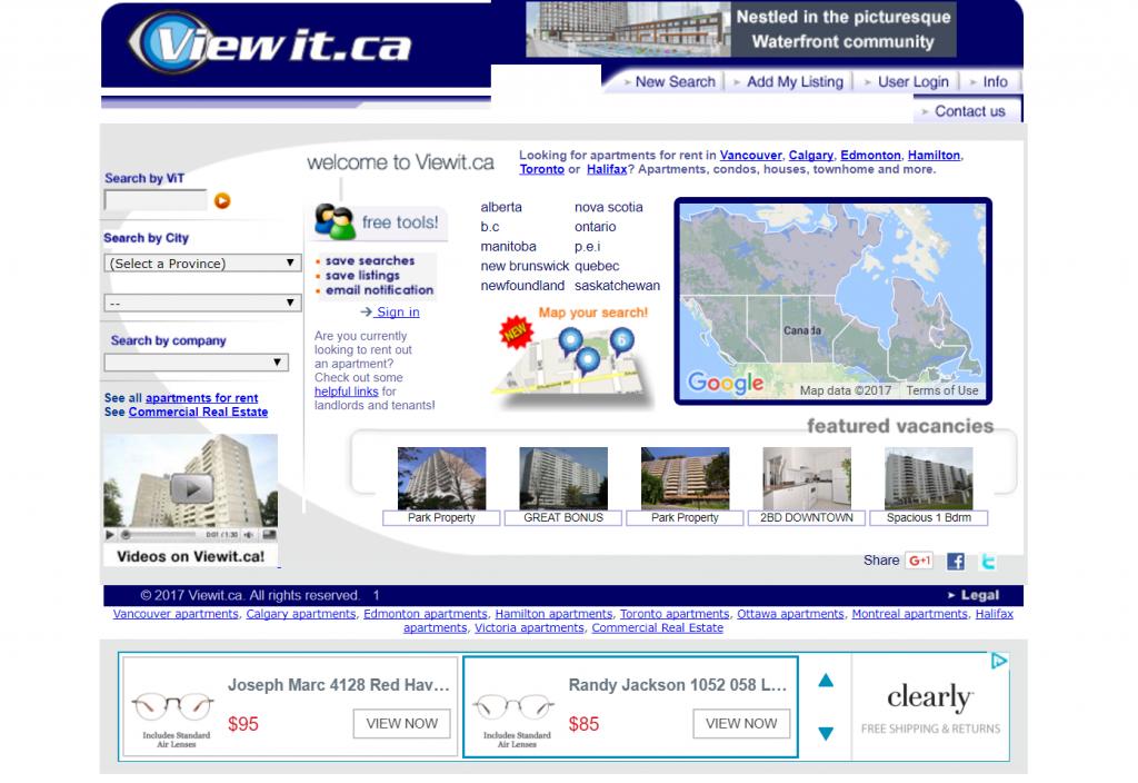 Viewit.ca homepage