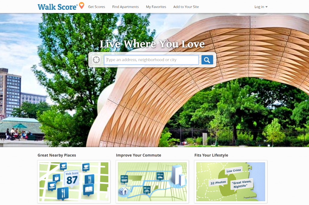 walkscore.com homepage