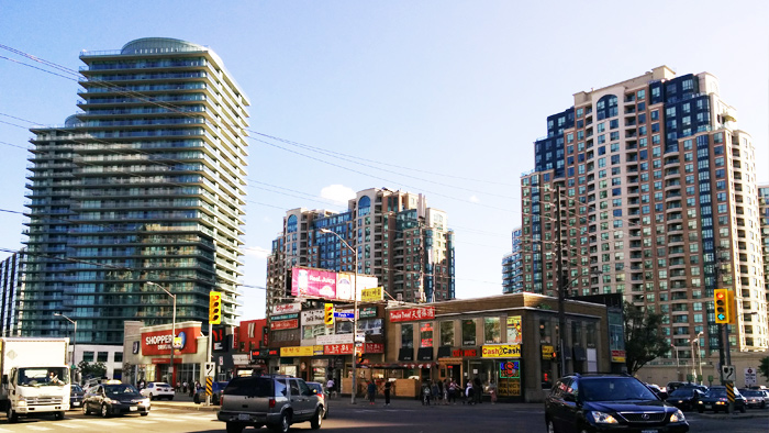 streetview of yonge and finch, toronto
